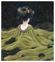 2008, Untitled - Acryl auf Leinwand (43 x 48cm) . moki