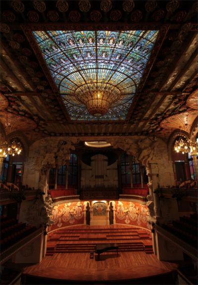 Konzertsaal Palau Música Catalana . ©Bild: www.canon.jp